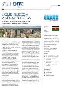 Liquid Telecom : A Kenya Success