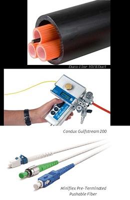 miniflex pre-terminated pushable fiber