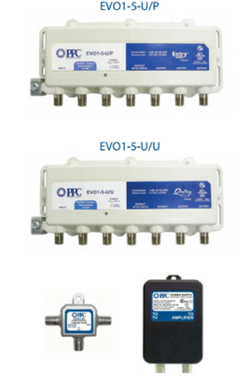 5 port 3 amplifiers and splitters