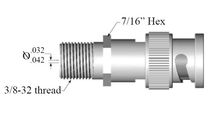 BNC male adapter for broadband services