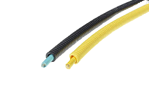 Dielectric armoured cable