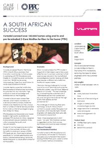 A South African Success : Vumatel