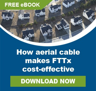 Fast FTTx deployment with aerial fiber cable