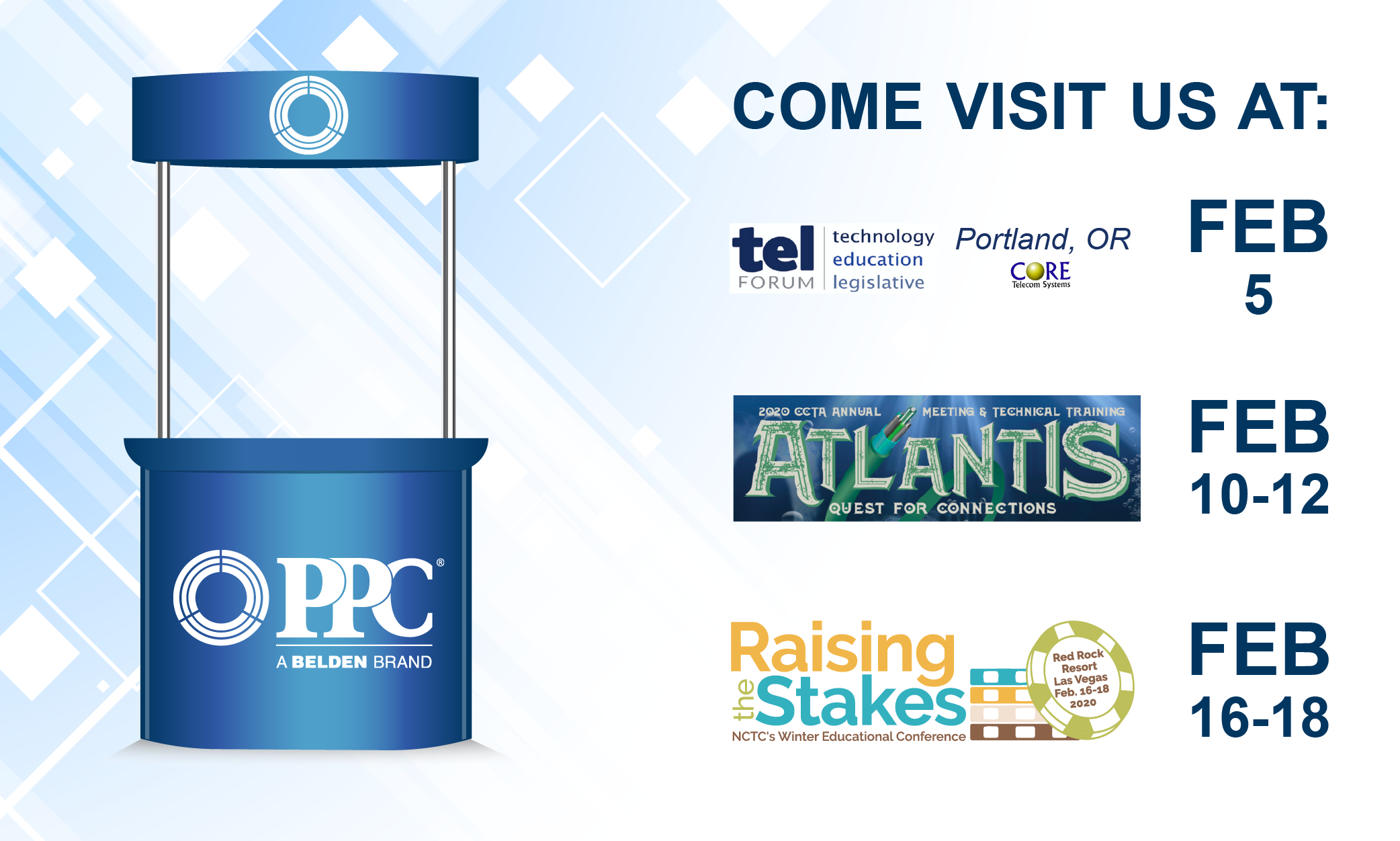 PPC to highlight fiber, broadband solutions at February trade shows